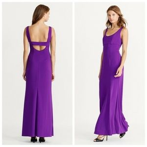 Ralph Lauren Stretch Stretch Crepe Scoop Gown